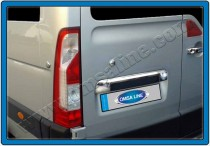 Хромированная накладка на багажник Опель Мовано Б (хром накладка над номером Opel Movano B)
