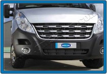 Хромированная окантовка противотуманных фар Опель Мовано Б (хром накладки на противотуманные фары Opel Movano B)
