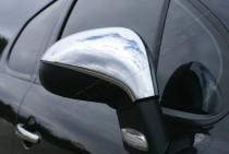 Хром накладки на зеркала Пежо 207 (хромированные накладки на боковые зеркала Peugeot 207)