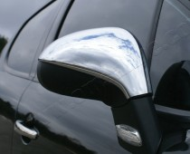 Хром накладки на зеркала Пежо 308 1 (хромированные накладки на боковые зеркала Peugeot 308 1)