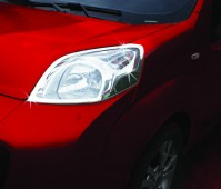 Хром накладки на фары Пежо Бипер (хромированная окантовка фар Peugeot Bipper)