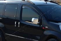 Хром накладки на зеркала Пежо Бипер (хромированные накладки на боковые зеркала Peugeot Bipper)
