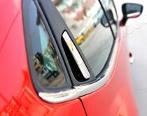 Хром накладки на задние ручки Рено Клио 4 (хромированные накладки на задние дверные ручки Renault Clio 4)