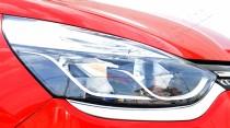 Хром накладки на передние фары Рено Клио 4 (хромированная накладки на фары Renault Clio 4)