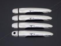 Хром накладки на ручки Рено Флюенс (хромированные накладки на дверные ручки Renault Fluence)