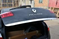 Хромированная кромка багажника Рено Меган 3 (хром нижняя кромка крышки багажника Renault Megane 3)
