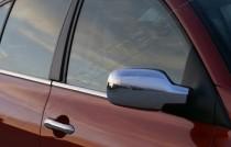 Хром накладки на зеркала Рено Сценик 2 (хромированные накладки на боковые зеркала Renault Scenic 2)