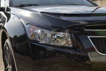 Реснички на Chevrolet Cruze (накладки на фары Шевроле Круз)