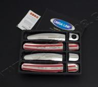Купить хром накладки на боковые ручки Skoda Octavia A5 (хром ока