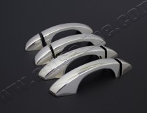 Хром накладки на ручки Шкода Октавия А7 (хромированные накладки на дверные ручки Skoda Octavia A7)