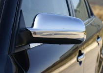 Хром накладки на зеркала Шкода Суперб 1 (хромированные накладки на боковые зеркала Skoda Superb 1)