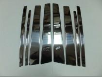 Хромированные молдинги дверных стоек Сузуки Гранд Витара 2 (хром молдинги на стойки Suzuki Grand Vitara 2)