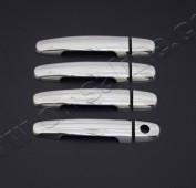 Хром накладки на ручки Тойота Аурис 1 (хромированные накладки на дверные ручки Toyota Auris 1)