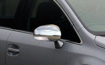 Хром накладки на зеркала Тойота Авенсис 3 (хромированные накладки на боковые зеркала Toyota Avensis 3)
