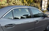 Хромированные молдинги стекол Тойота Королла 11 (хром верхние молдинги стекол Toyota Corolla 11)