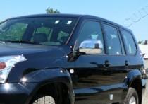 Хром накладки на зеркала Тойота Ленд Крузер Прадо 120 (хромированные накладки на боковые зеркала Toyota Land Cruiser Prado 120)