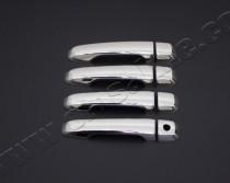 Хром накладки на ручки Тойота Ленд Крузер Прадо 150 (хромированные накладки на дверные ручки Toyota Land Cruiser Prado 150)