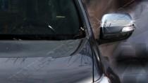 Хром накладки на зеркала Тойота Ленд Крузер Прадо 150 (хромированные накладки на боковые зеркала Toyota Land Cruiser Prado 150)