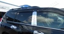 Хромированные молдинги стекол Тойота Ленд Крузер Прадо 150 (хром нижние молдинги стекол Toyota Land Cruiser Prado 150)