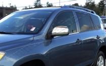 Хром накладки на зеркала Тойота РАВ 4 3 (хромированные накладки на боковые зеркала Toyota RAV4 3)