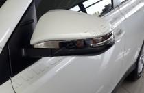 Хром накладки на зеркала Тойота РАВ 4 4 (хромированные накладки на боковые зеркала Toyota RAV4 4)
