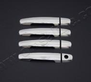 Хром накладки на ручки Тойота Ярис 2 (хромированные накладки на дверные ручки Toyota Yaris 2)
