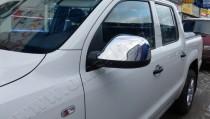 Хром накладки на зеркала Фольксваген Амарок (хромированные накладки на боковые зеркала Volkswagen Amarok)