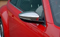 Хром накладки на зеркала Фольксваген Битл (хромированные накладки на боковые зеркала Volkswagen Beetle)