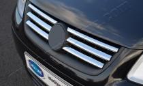 Хром накладки на решетку радиатора Фольксваген Кадди 3 (хромированные накладки на решетку радиатора Volkswagen Caddy 3)