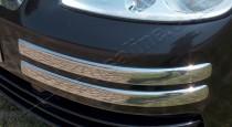 Хром накладки на передний бампер Фольксваген Кадди 3 (хромированные накладки переднего бампера Volkswagen Caddy 3)