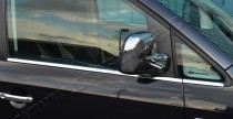 Хромированные молдинги стекол Фольксваген Кадди 3 (хром нижние молдинги стекол Volkswagen Caddy 3)