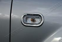 Хром накладки на повторители поворотов Фольксваген Кадди 3 (хромированная окантовка повторителей Volkswagen Caddy 3)