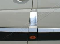 Хром накладка на лючок бензобака Фольксваген Крафтер 1 (хромированный лючок на бензобак Volkswagen Crafter 1)