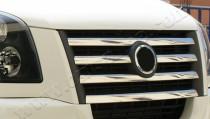 Хром накладки на решетку радиатора Фольксваген Крафтер 1 (хромированные накладки на решетку радиатора Volkswagen Crafter 1)