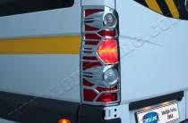 Хромированная окантовка на стопы Фольксваген Крафтер 1 (хром накладки на стопы Volkswagen Crafter 1)
