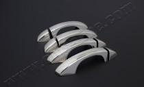 Хром накладки на ручки Фольксваген Гольф 7 (хромированные накладки на дверные ручки Volkswagen Golf 7)
