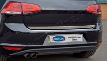 Хромированная кромка багажника Фольксваген Гольф 7 (хром нижняя кромка крышки багажника Volkswagen Golf 7)