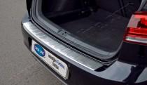 Матовая накладка на задний бампер Фольксваген Гольф 7 (матированная накладка заднего бампера Volkswagen Golf 7)