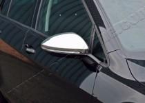 Хром накладки на зеркала Фольксваген Гольф 7 (хромированные накладки на боковые зеркала Volkswagen Golf 7)