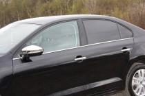 Купить хром молдинги на боковые стекла Volkswagen Jetta 6 (фото