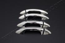 Хром накладки на ручки Фольксваген Пассат Б6 (хромированные накладки на дверные ручки Volkswagen Passat B6)