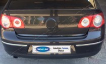 Хромированная кромка багажника Фольксваген Пассат Б6 (хром нижняя кромка крышки багажника Volkswagen Passat B6)