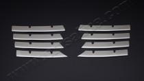 Оригинальные хромированные накладки решетки радиатора VW Passat