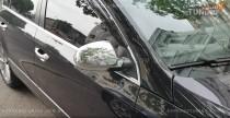 Хром накладки на зеркала Фольксваген Пассат Б6 (хромированные на