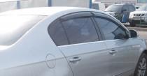 Хромированные молдинги стекол Фольксваген Пассат Б6 (хром нижние молдинги стекол Volkswagen Passat B6)