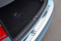 Матовая накладка на задний бампер Фольксваген Пассат Б7 (матированная накладка заднего бампера Volkswagen Passat B7)
