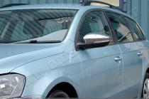 Хром накладки на зеркала Фольксваген Пассат Б7 (хромированные накладки на боковые зеркала Volkswagen Passat B7)