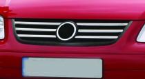 Хром накладки на решетку радиатора Фольксваген Поло 4 (хромированные накладки на решетку радиатора Volkswagen Polo 4)