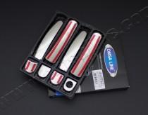 Хром накладки на боковые ручки Volkswagen Polo 5 (комплект хром