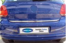Хромированная кромка багажника Фольксваген Поло 5 (хром нижняя кромка крышки багажника Volkswagen Polo 5)